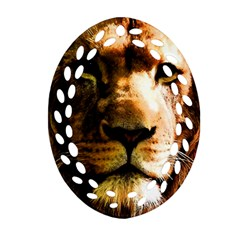 Lion  Oval Filigree Ornament (Two Sides)