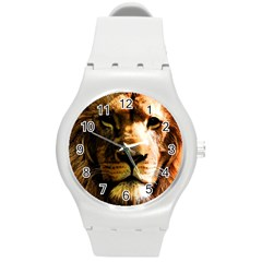 Lion  Round Plastic Sport Watch (M)