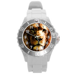 Lion  Round Plastic Sport Watch (L)