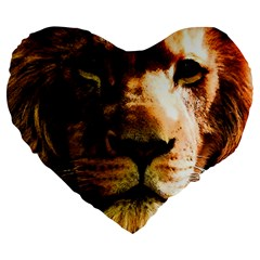 Lion  Large 19  Premium Heart Shape Cushions