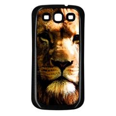 Lion  Samsung Galaxy S3 Back Case (Black)