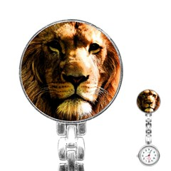 Lion  Stainless Steel Nurses Watch