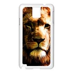 Lion  Samsung Galaxy Note 3 N9005 Case (White)