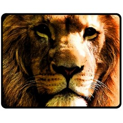Lion  Double Sided Fleece Blanket (Medium)