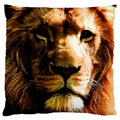 Lion  Large Flano Cushion Case (One Side)
