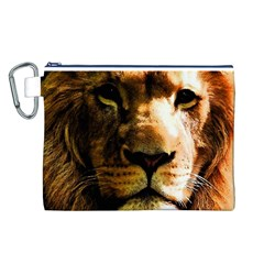 Lion  Canvas Cosmetic Bag (L)