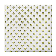 Angry Emoji Graphic Pattern Tile Coasters