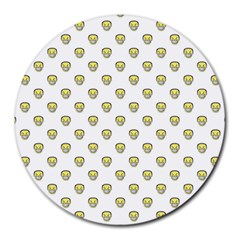 Angry Emoji Graphic Pattern Round Mousepads