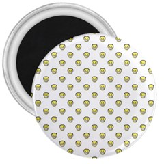 Angry Emoji Graphic Pattern 3  Magnets