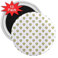 Angry Emoji Graphic Pattern 3  Magnets (10 pack)