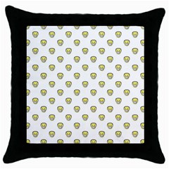 Angry Emoji Graphic Pattern Throw Pillow Case (Black)