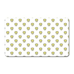 Angry Emoji Graphic Pattern Magnet (Rectangular)