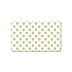 Angry Emoji Graphic Pattern Magnet (Name Card)