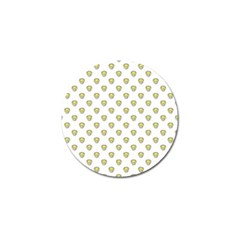 Angry Emoji Graphic Pattern Golf Ball Marker (10 pack)