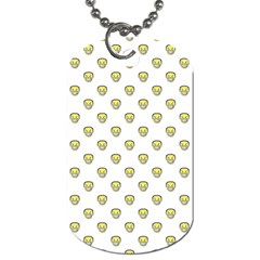 Angry Emoji Graphic Pattern Dog Tag (Two Sides)