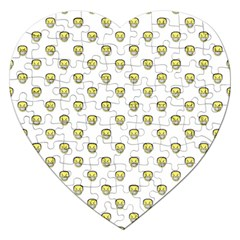 Angry Emoji Graphic Pattern Jigsaw Puzzle (Heart)