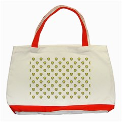 Angry Emoji Graphic Pattern Classic Tote Bag (Red)