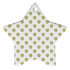 Angry Emoji Graphic Pattern Star Ornament (Two Sides)