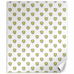 Angry Emoji Graphic Pattern Canvas 8  x 10