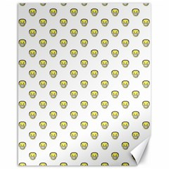 Angry Emoji Graphic Pattern Canvas 16  x 20