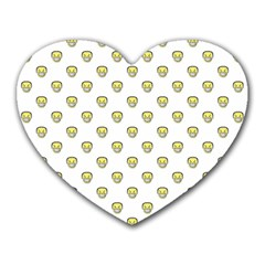 Angry Emoji Graphic Pattern Heart Mousepads