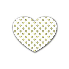 Angry Emoji Graphic Pattern Rubber Coaster (Heart)