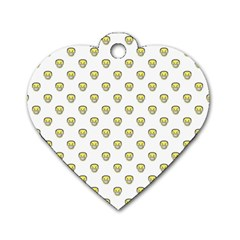Angry Emoji Graphic Pattern Dog Tag Heart (One Side)