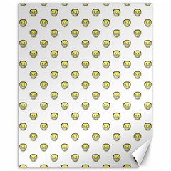 Angry Emoji Graphic Pattern Canvas 11  x 14