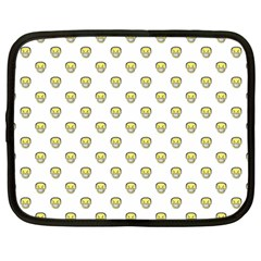 Angry Emoji Graphic Pattern Netbook Case (Large)