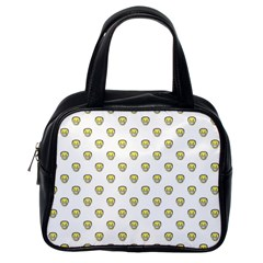 Angry Emoji Graphic Pattern Classic Handbags (One Side)