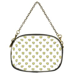 Angry Emoji Graphic Pattern Chain Purses (Two Sides)
