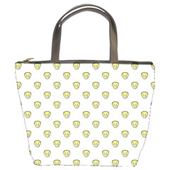 Angry Emoji Graphic Pattern Bucket Bags