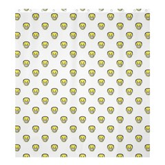 Angry Emoji Graphic Pattern Shower Curtain 66  x 72  (Large)