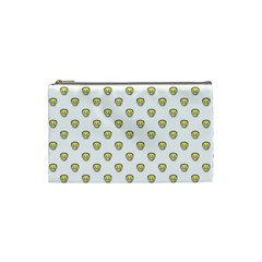 Angry Emoji Graphic Pattern Cosmetic Bag (Small)