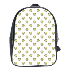 Angry Emoji Graphic Pattern School Bags(Large)