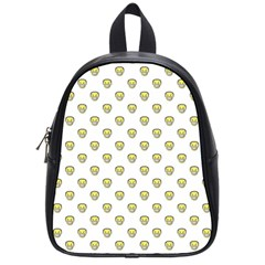 Angry Emoji Graphic Pattern School Bags (Small)