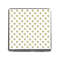 Angry Emoji Graphic Pattern Memory Card Reader (Square)