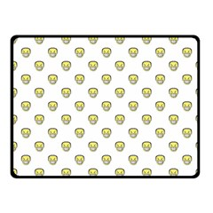 Angry Emoji Graphic Pattern Fleece Blanket (Small)