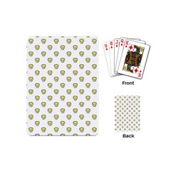 Angry Emoji Graphic Pattern Playing Cards (Mini)