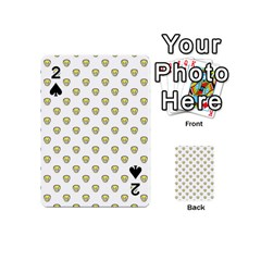 Angry Emoji Graphic Pattern Playing Cards 54 (Mini)