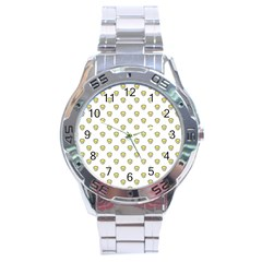 Angry Emoji Graphic Pattern Stainless Steel Analogue Watch