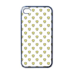 Angry Emoji Graphic Pattern Apple iPhone 4 Case (Black)