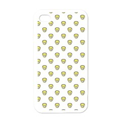Angry Emoji Graphic Pattern Apple iPhone 4 Case (White)