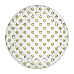 Angry Emoji Graphic Pattern Round Filigree Ornament (Two Sides)