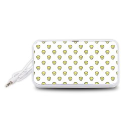 Angry Emoji Graphic Pattern Portable Speaker (White)