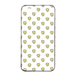 Angry Emoji Graphic Pattern Apple iPhone 4/4s Seamless Case (Black)