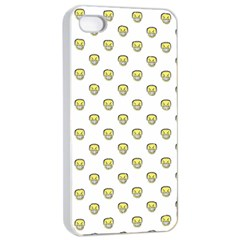 Angry Emoji Graphic Pattern Apple iPhone 4/4s Seamless Case (White)