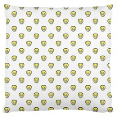 Angry Emoji Graphic Pattern Large Cushion Case (Two Sides)