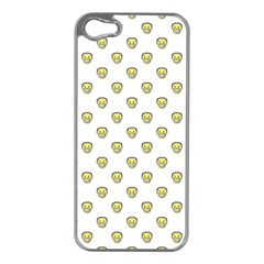 Angry Emoji Graphic Pattern Apple iPhone 5 Case (Silver)
