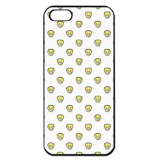 Angry Emoji Graphic Pattern Apple iPhone 5 Seamless Case (Black)